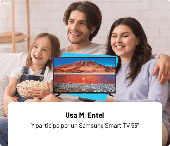 Usa Mi Entel y participa por un samsung smart tv 55