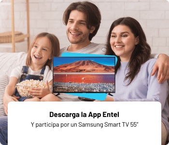 Descarga la App Entel y participa por un samsung smart tv 55